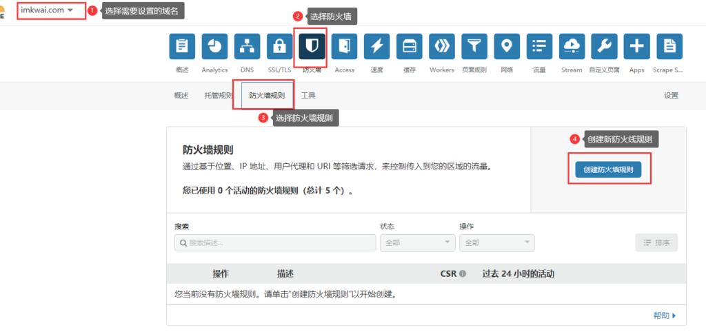 Cloudflare防火墙屏蔽同行访问设置实例 1